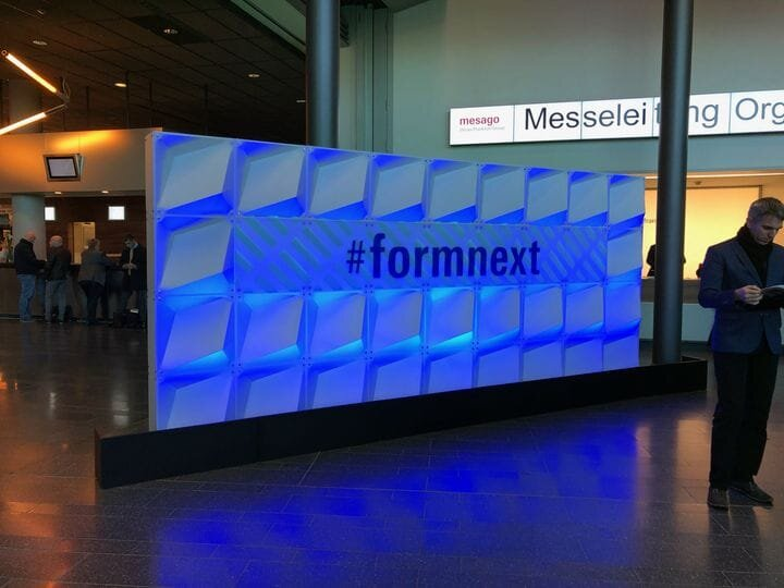 Welcome banner at Formnext 2019 [Source: Fabbaloo]