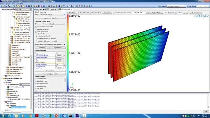 Screenshot of Genoa 3DP Simulation Suite [Source: Alphastar]