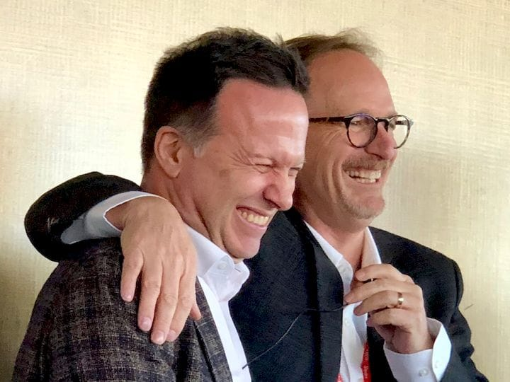 SOLIDWORKS CEO Gian Paolo Bassi in a lighter moment on day 2 of SWW2019 [Source: Fabbaloo]