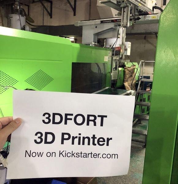 The 3DFORT inexpensive desktop 3D printer being manufactured [Source: Kickstarter]