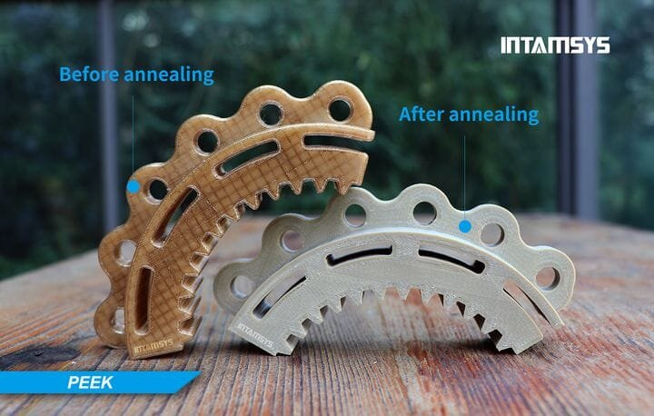 Pre- and post-annealing of a large 3D printed PEEK part [Source: INTAMSYS]