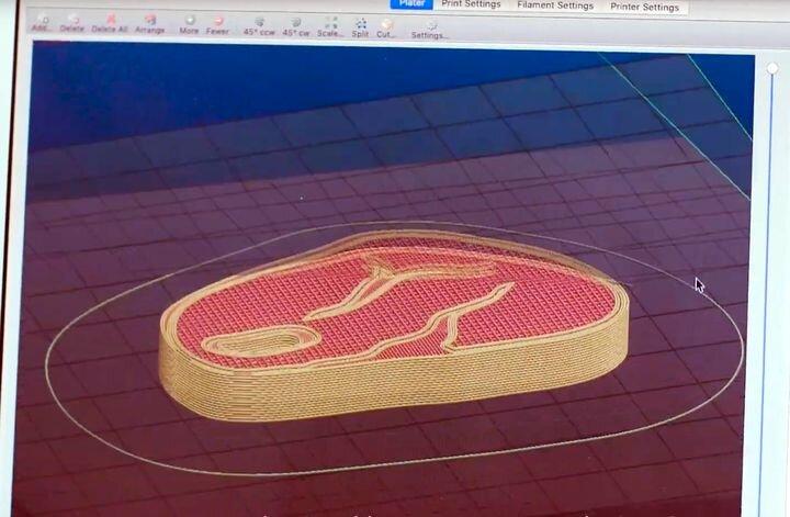 Job preparation for 3D printing a vegetarian steak [Source: Nova Meat]