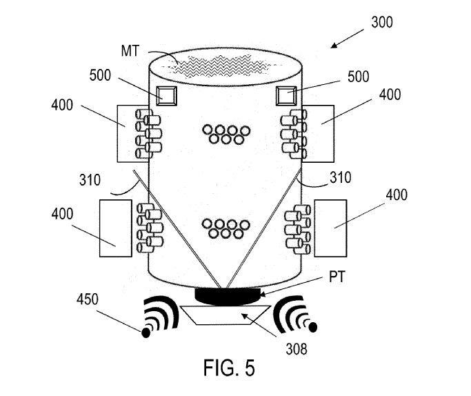 Illustration of Siemens' volumetric 3D printing patent concept [Source: USPTO]
