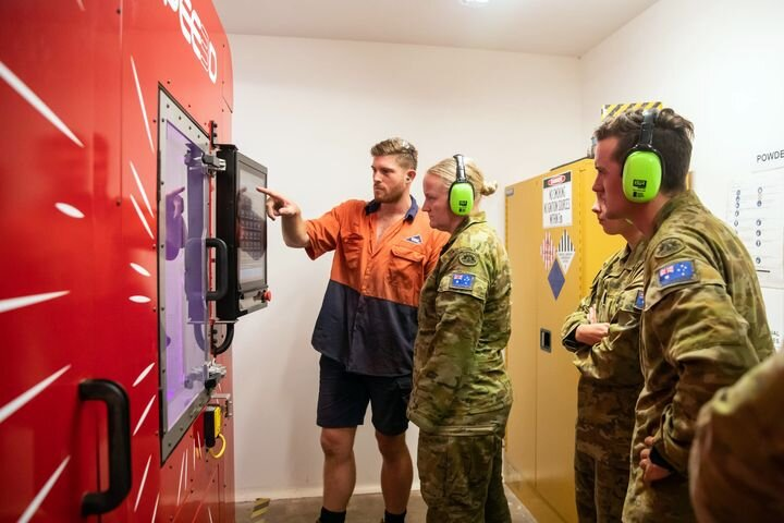 Australian soldiers learning how to 3D print in metal [Source: SPEE3D]