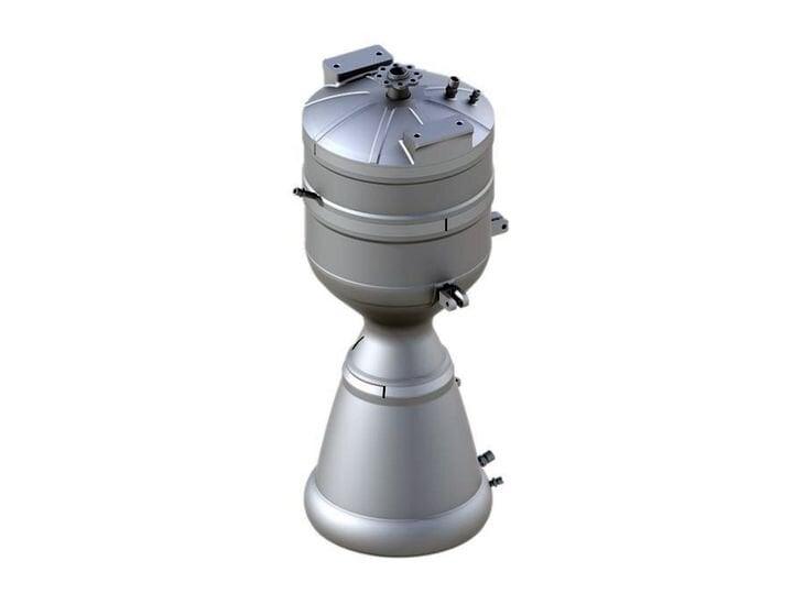 3D printed metal rocket engine for the SK-1 vehicle [Source: Skyrora]