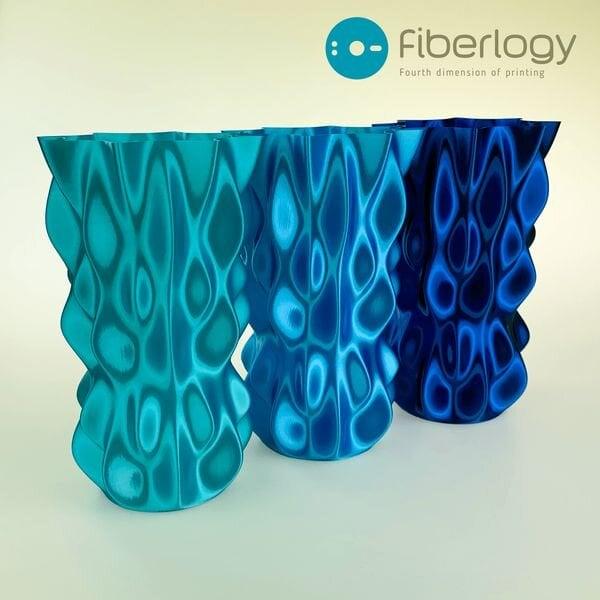 Some pretty shiny 3D printer filament prints [Source: Fiberlogy]