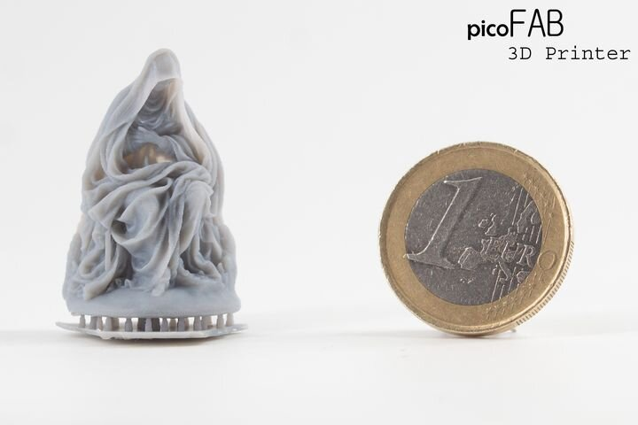 Sample 3D print from the PicoFAB resin 3D printer [Source: Lumi Industries]