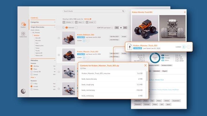 Turbosquid's Kraken 3D Asset Management [Source: SolidSmack]