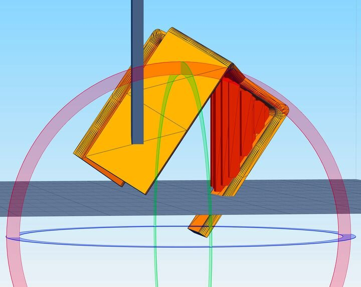 Adding manual support structures to a temporarily rotated 3D model in Simplify3D [Source: Fabbaloo]