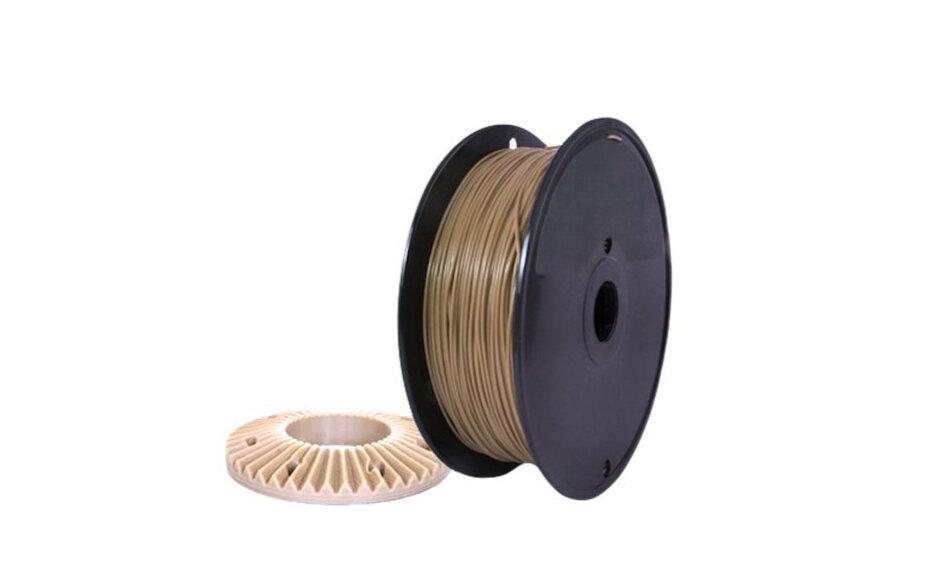 A spool of high-temperature PEEK 3D print material [Source: INTAMSYS]