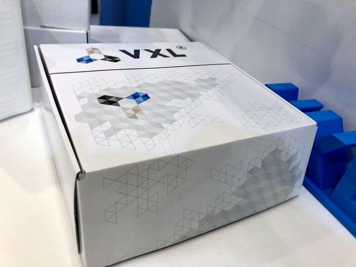 A box of VXL 3D printer filament [Source: Fabbaloo]