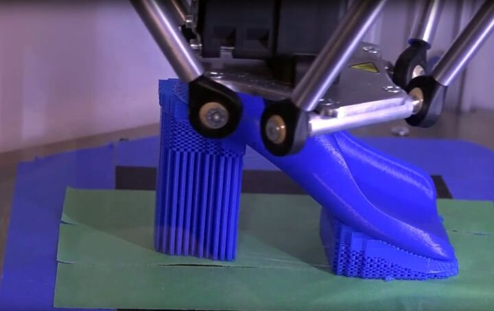 Vorum's previous 3D printing option. Looks a bit less than optimal [Source: YouTube]