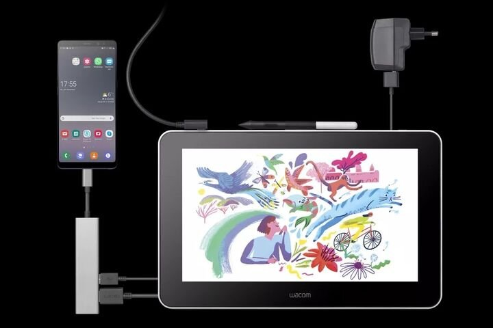 The new Wacom One drawing tablet attached to a smartphone [Source: SolidSmack]