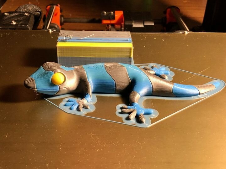First successful multicolor 3D print made on the Prusa MMU2S with no manual intervention [Source: Fabbaloo]
