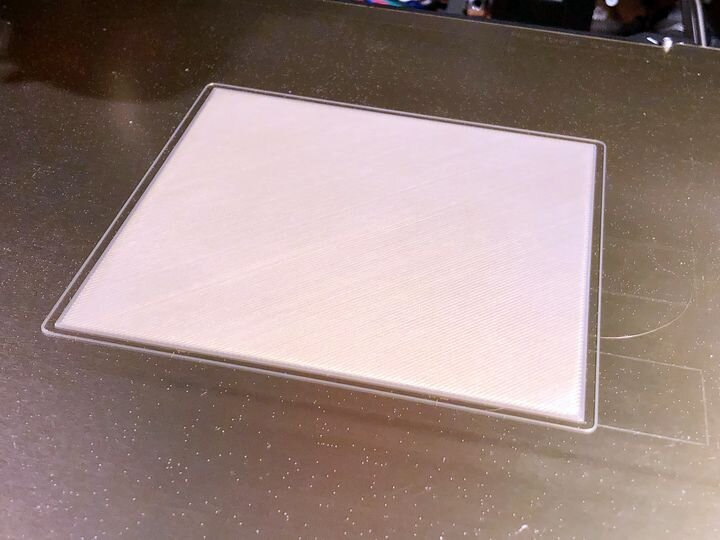 A perfect first layer 3D print [Source: Fabbaloo]