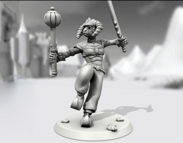 A unique custom-designed figurine 3D model in Hero Forge [Source: Fabbaloo]