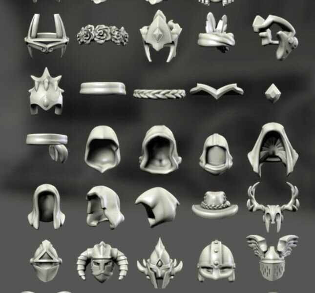 Some of the countless customization options in Hero Forge [Source: Fabbaloo]