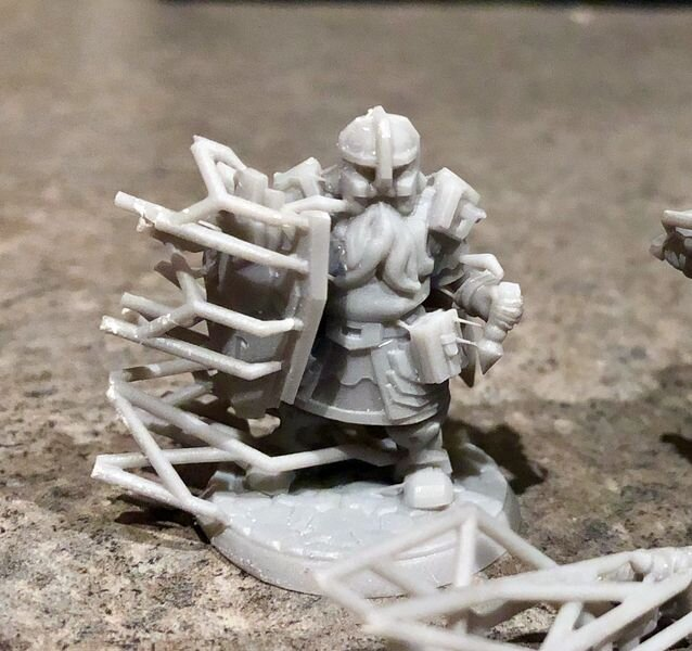 A sample self-3D print from a Hero Forge custom designed 3D model (before support removal) [Source: Fabbaloo]