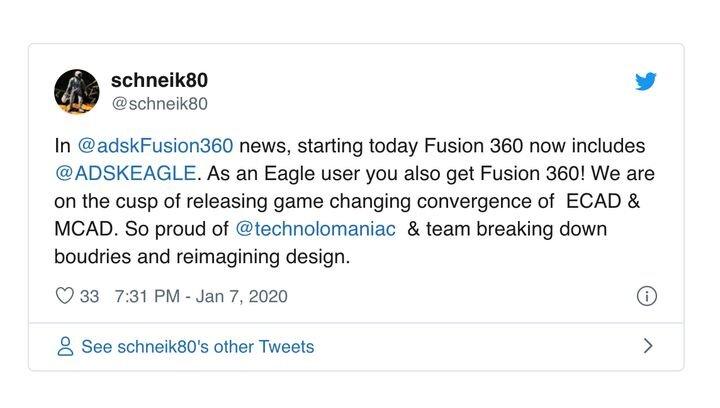 Autodesk Fusion 360 (Sub) Now Includes EAGLE PCB Design