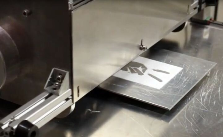 Aerosint 3D printer powder recoater in action [Source: Aerosint]