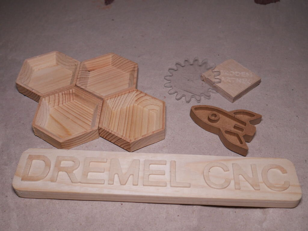 Sample cuts from the Dremel CNC [Source: Instructables]