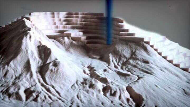 CNC-produced 3D model of Mt. St. Helens [Source: SolidSmack]