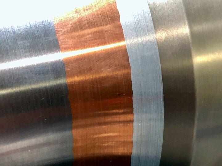 Metal 3D print involving multiple metals from SBI International's M3D-P metal 3D printing system [Source: Fabbaloo]