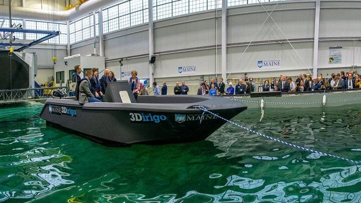 A full-size 3D printed boat [Source: SolidSmack]