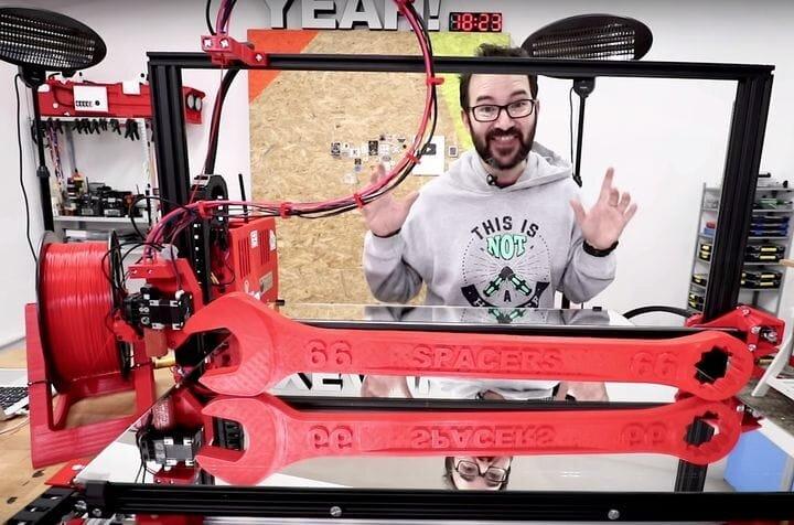 Ivan Miranda with his enormous home built 3D printer [Source:YouTube]