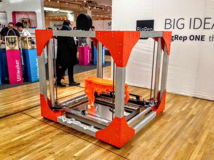 BigRep's firs major success, the BigRep One large-format 3D printer [Source: Fabbaloo]