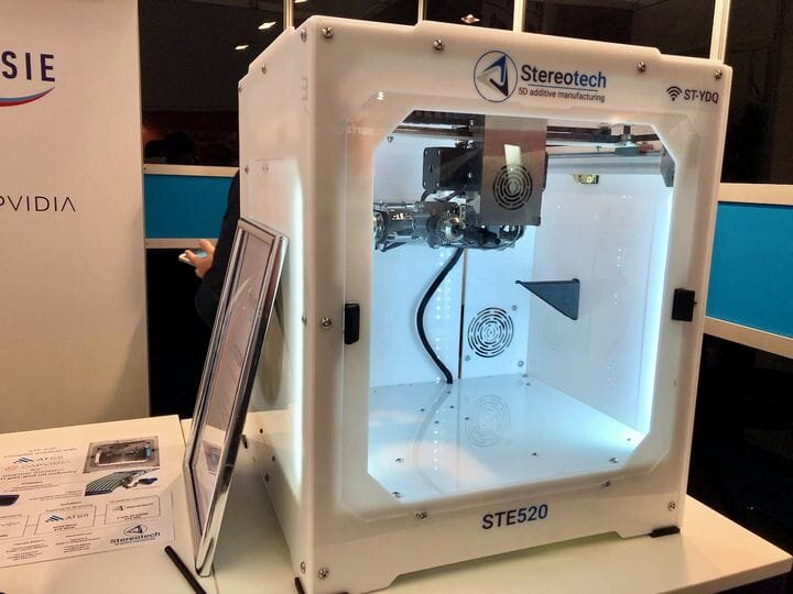 """The Stereotech STE520 """"5D"""" printer [Source: Fabbaloo]"""