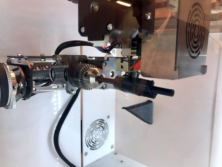 """Five-axis motion system on the Stereotech STE520 """"5D"""" printer [Source: Fabbaloo]"""