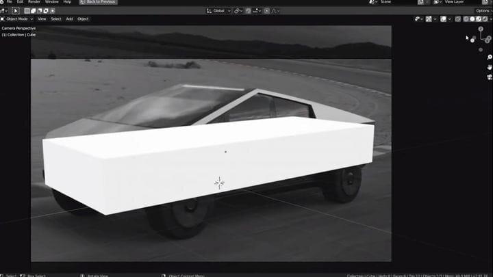Designing the Tesla Cybertruck in Blender [Source: SolidSmack]
