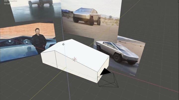 The New Tesla Cybertruck is Dang Easy to Model in Blender