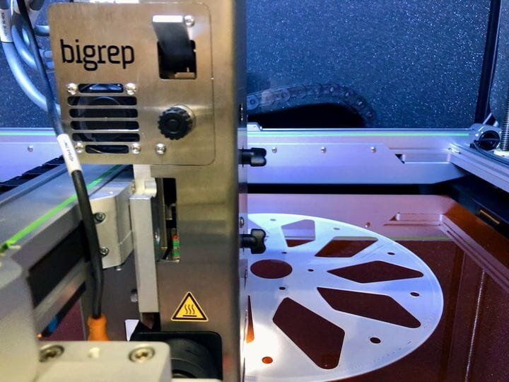 A BigRep Studio G2 3D printing some large pieces [Source: Fabbaloo]