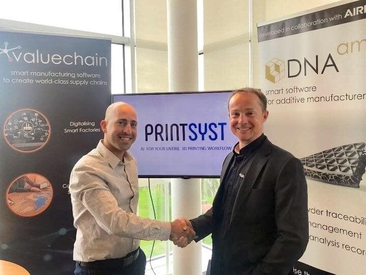 Printsyst CEO Itamar Yona and DNA.am Chairman Tom Dawes [Source: Printsyst]