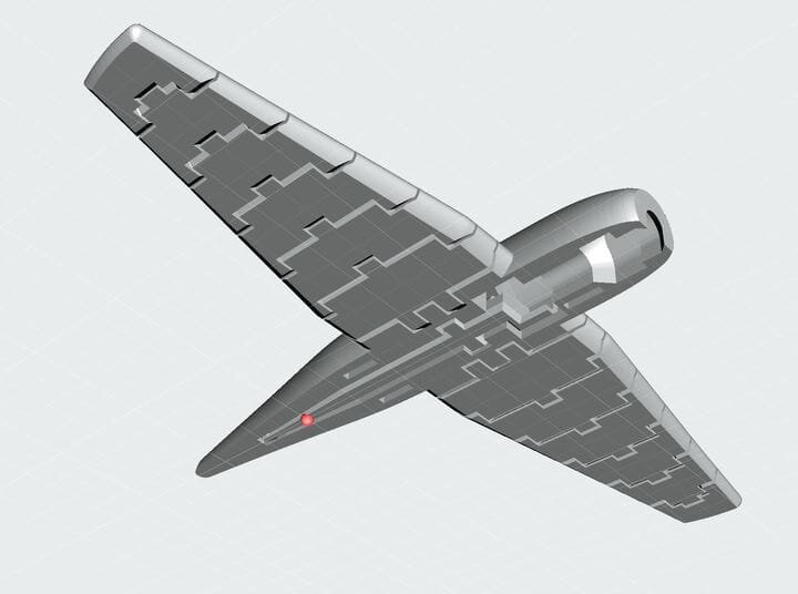 View of bottom fuselage portion of the 3D printed flappy wing aircraft model [Source: Prusa Printers]