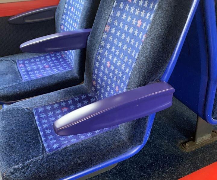 3D printed digital railcar armrests [Source: Stratasys]