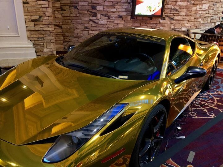 A gold-plated car [Source: Fabbaloo]