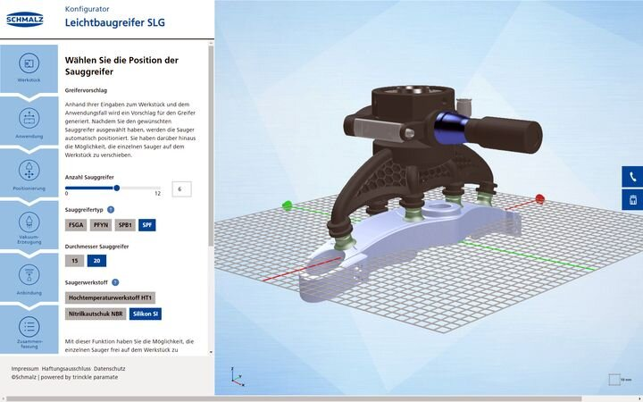 Automatically generating 3D model for custom robotic grippers in Paramate [Source: Trinckle]