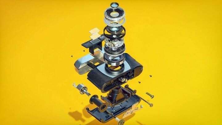 Exploded view of a camera design [Source: SolidSmack]