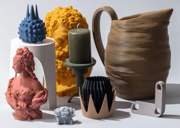 3D printed artistic pieces [Source: Graft Milk]