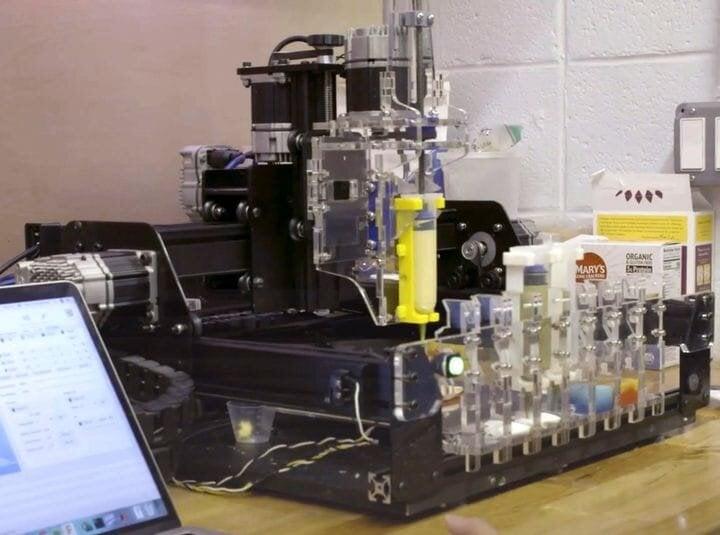 Experimental multi-material food 3D printed food [Source: Mashable]