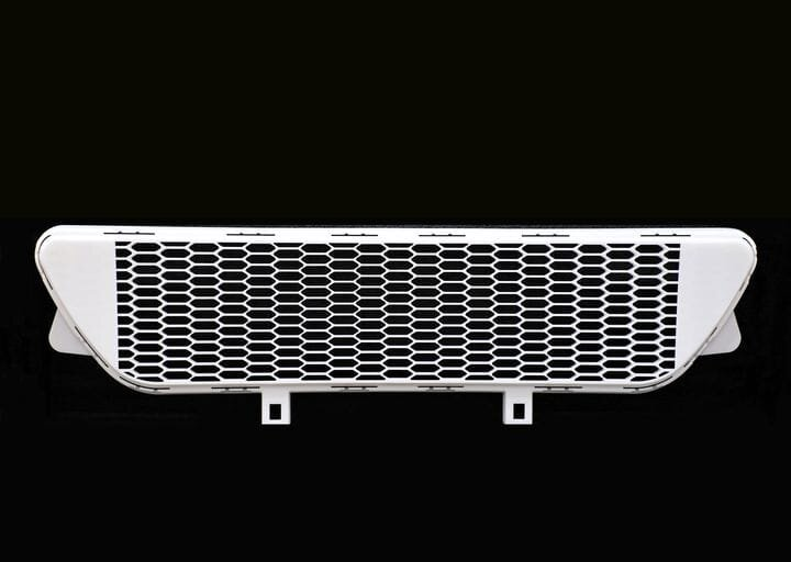 Nylon automotive grill produced on a HT1001P CAMS system [Source: Farsoon]
