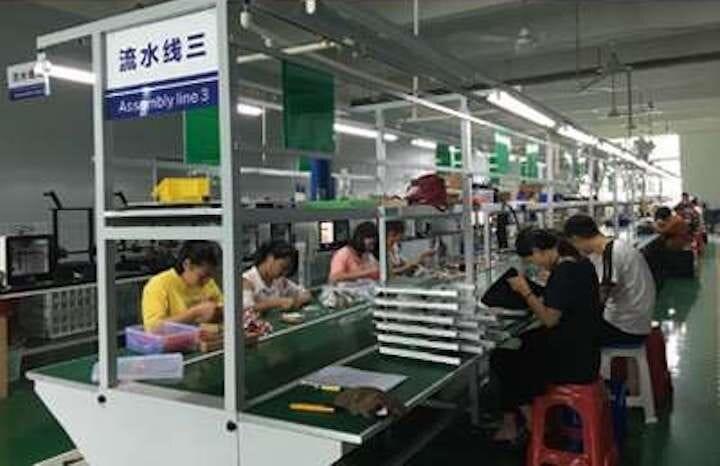 Goofoo 3D printers being built in their factory [Source: Goofoo]