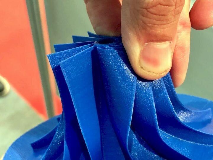 A flexible TPU 3D print [Source: Fabbaloo]
