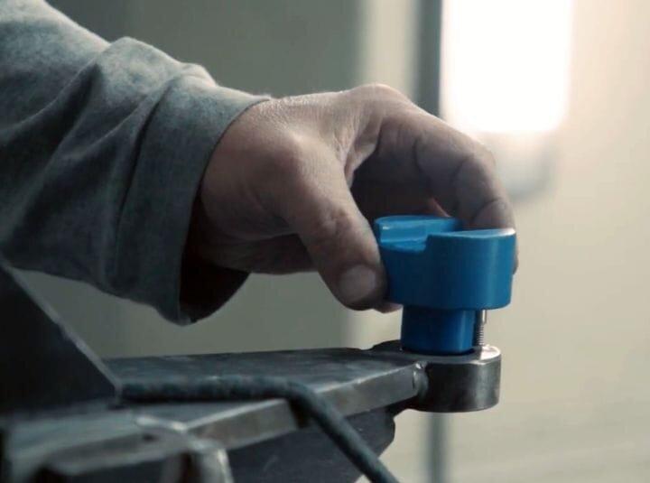 Placing a 3D printed jig in a manufacturing process [Source: Kodak]