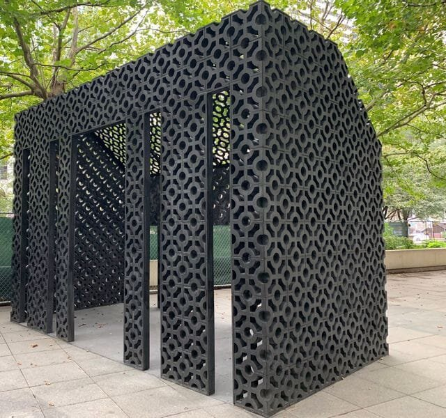 The Screenhouse, a project built from bricks made from 3D printed molds [Source: Fast Radius]