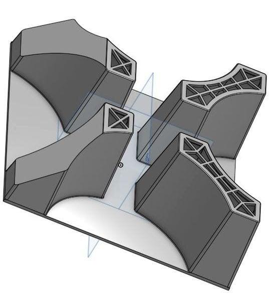 3D design for a concrete casting mold [Source: Fast Radius]