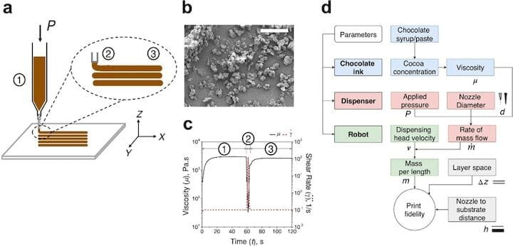 The Ci3DP process to 3D print chocolate without heat [Source: Scientific Reports]